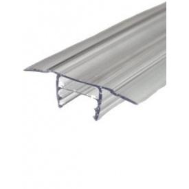 Профіль сполучний роз'ємний з полікарбонату БАЗА прозорий 6-10 мм