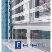 Прозрачная защитная решетка на окно PREMISAVE, белый 1300х1400 мм