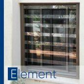 Защитная прозрачная решетка на окно PREMISAVE, коричневый