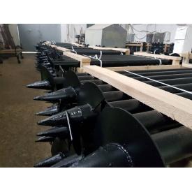Виготовлення і монтаж металевих гвинтових паль для фундаментів