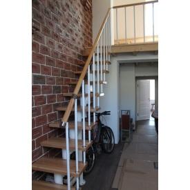 Виготовлення прямої сходи з металевим каркасом і дерев'яними сходинками