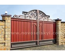 Ковані ворота new розпашні закриті центрів 2х4