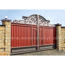 Кованые ворота new распашные закрыты центров 2х4
