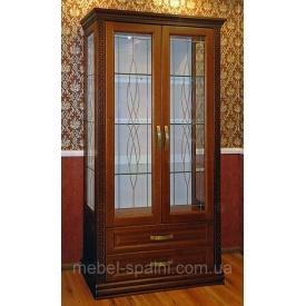 Шкаф витрина в гостиную Афродита 96х40х190 см