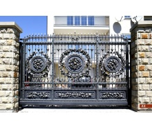 Ковані ворота відкатні відкриті