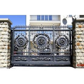 Кованые ворота откатные открытые