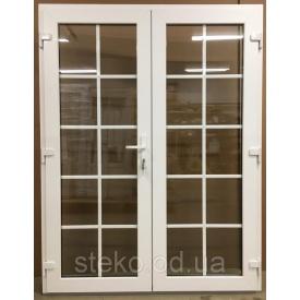 Двух-створчатые Пластиковые входные двери Steko 1500x2050