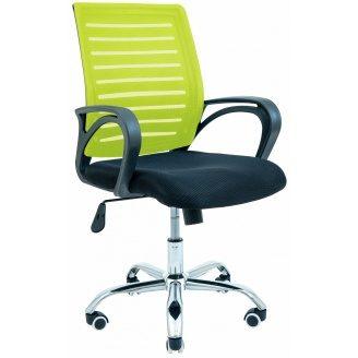 Крісло офісне Richman Флеш 940х1030х490х520 мм салатово-чорне
