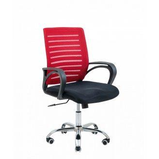 Крісло офісне Richman Flash Armchair 940х1030х490х520 мм червона сітка -чорне сидіння