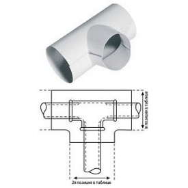 Тройник K-flex 088х061 PVC для наружного покрытия трубной изоляции