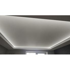 Натяжной потолок белый глянцевый 0,18 мм