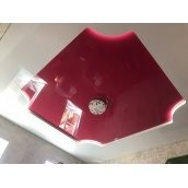 Натяжна стеля рожева глянцева 0,18 мм