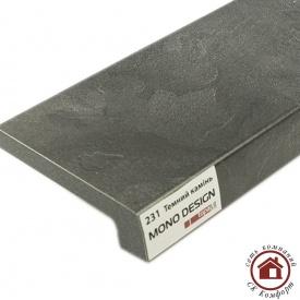 Подоконник Topalit Mono Design 350 мм Тёмный камень (231)