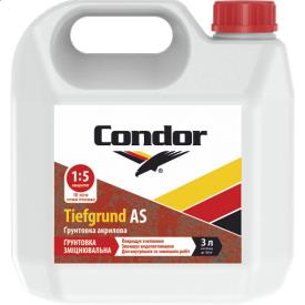Укрепляющая грунтовка глубокого проникновения для внутренних и наружных работ Condor Tiefgrund AS 1л