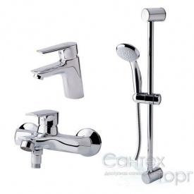 Набор 3 в 1 Q-tap Set 35-311 CRM для умывальника, ванна, стойка картридж 35 мм