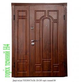 Двери входные ТЕПЛОСТАЛЬ 120-205 орех темный Н4