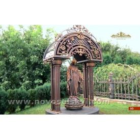 Кованная часовня со статуей Богородицы под заказ