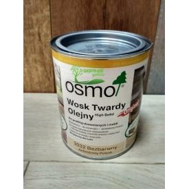 Масло с воском для дерева OSMO Hard Wax Oil 3032 0.75 л