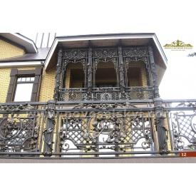 Кованое ограждение балкона прямое А3112