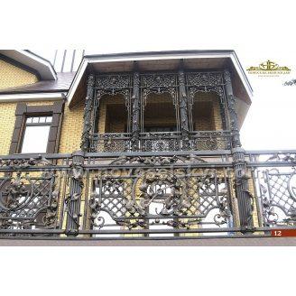 Коване огородження балкону пряме А3112