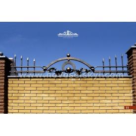 Кованая ограда прямая верхняя А2311