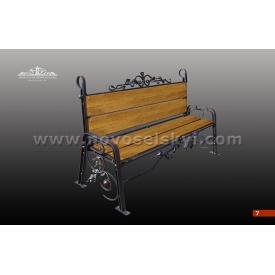 Кованая скамейка со спинкой А7107