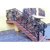 Кованое ограждение лестницы А4122
