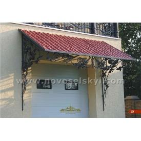 Кований дашок над гаражними дверима А5013