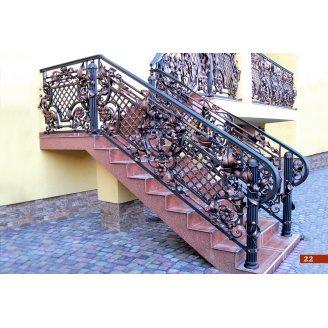 Коване огородження сходів А4122