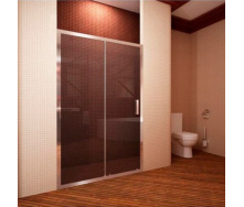 Душевые двери двухэлементные 1200х1900 (FAP12X chrome clear)