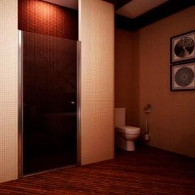 Душевые двери одноэлементные 900х1950 (QP10 900 chrome grape)