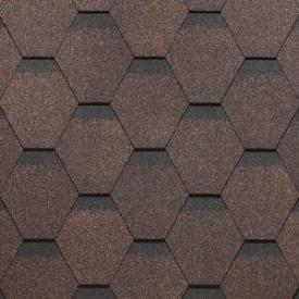 Гнучка черепиця Техноніколь Оптима коричневий 3м2
