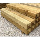 Столб деревянный для забора 90х90х1750
