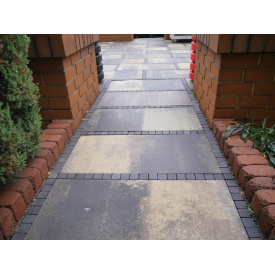 Тротуарная плитка вибропрессованная Золотой Мандарин 60 мм с укладкой