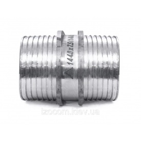 Пресс-муфта равнопроходная нержавеющая сталь без гильз 40 мм