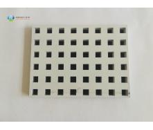 Перфорована гіпсова звукопоглинаюча плита Кнауф Акустика 12х25 мм квадратна перфорація