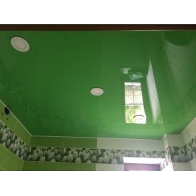 Натяжна стеля зелена глянцева 0,18 мм