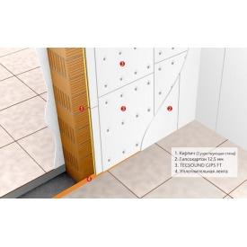 Готове рішення для звукоізоляція для стін і стелі TECSOUND GIPS FT 1200х1000х35.5мм