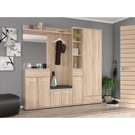 Модульная прихожая Мебель-Сервис Трио дсп светлая