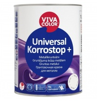 Краска Vivacolor Universal Korrostop Plus серая, 1 л