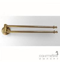 Держатель для полотенец поворотный двойной Pacini & Saccardi Rome 30050/О золото