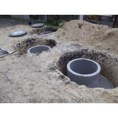 Установка септиків з бетонних кілець Київ