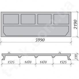 Плита забора ОП-22 5990*2190*140 мм