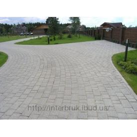 Тротуарна плитка Старе місто 6 см сіра