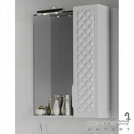 Зеркало с подсветкой и шкафчиком справа Аква Родос Родорс 55 белый