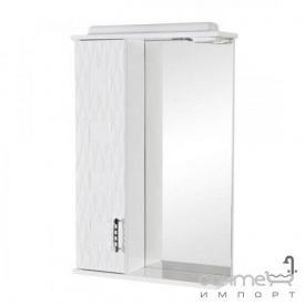 Зеркальный шкафчик с подсветкой Аква Родос Ассоль 55