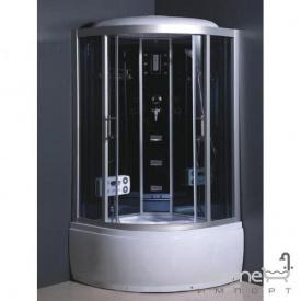Гідромасажний бокс Atlantis L-508-A (хL) 110х110х218 профіль хром, задні стінки білі, двері матові