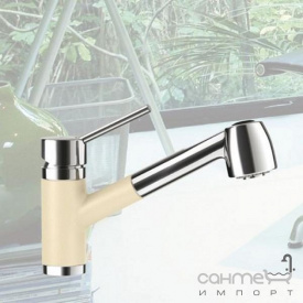 Смеситель для кухни с выдвижной лейкой Schock Pila 541120 эмаль в цвете Cristalite 63 mocha