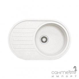 Гранітна кухонна мийка Fabiano Arc 77х50 Cream/Кремовий