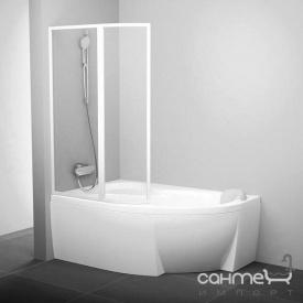 Шторка для ванны Ravak VSK2-150 L белый/rain (полистирол) 76L8010041 левая
